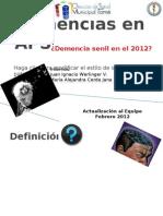 Actualización al Equipo Demencias en APS