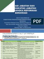 Evaluasi Jabatan Dalam Rangka Reformasi Birokrasi