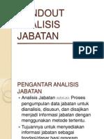 Handout Analisis Jabatan