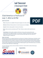 Group Sales for Club America vs Pachuca