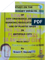 Preliminary Impacts of the Ban on Plastic Bags in Antipolo City_final
