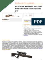 Crosman Benjamin Trail NP Hardwood .22 Caliber Nitro Piston Air Rifle With Wood Stock (Includes 3-9