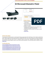 Gunvault MVB500 Micro Vault Biometric Pistol Gun Safe