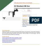 UZI Full Metal CO2 Blowback BB Gun