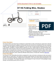 Dahon Vitesse D7 HG Folding Bike, Shadow