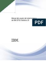 Manual Del Usuario Del Sistema Basico de IBM SPSS Statistics 20
