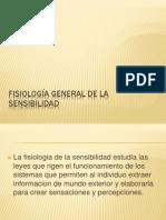 Fisiologia General de La Sensibilidad