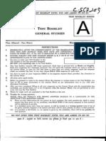 IAS General Studies Prelims Question Paper 2009