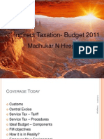 Indirect Taxation- Budget 2011 Hiregange