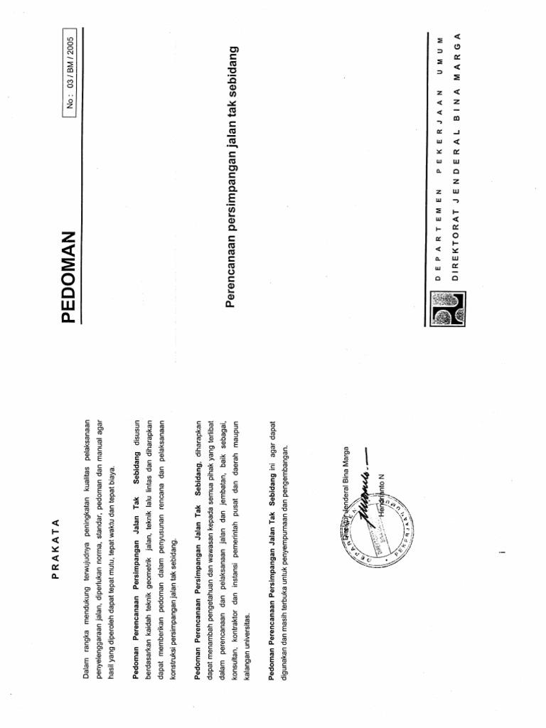 Pedoman no03bm2005 perencanaan persimpangan jalan tak sebidang 2005 ccuart Image collections