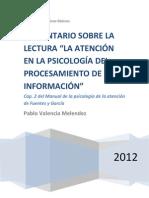 """""""La atención en la psicología del procesamiento de información"""" (COMENTARIO)"""