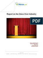 Report On The Voice Over Industry 2007
