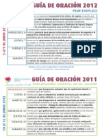Guía Oración Junio 2012