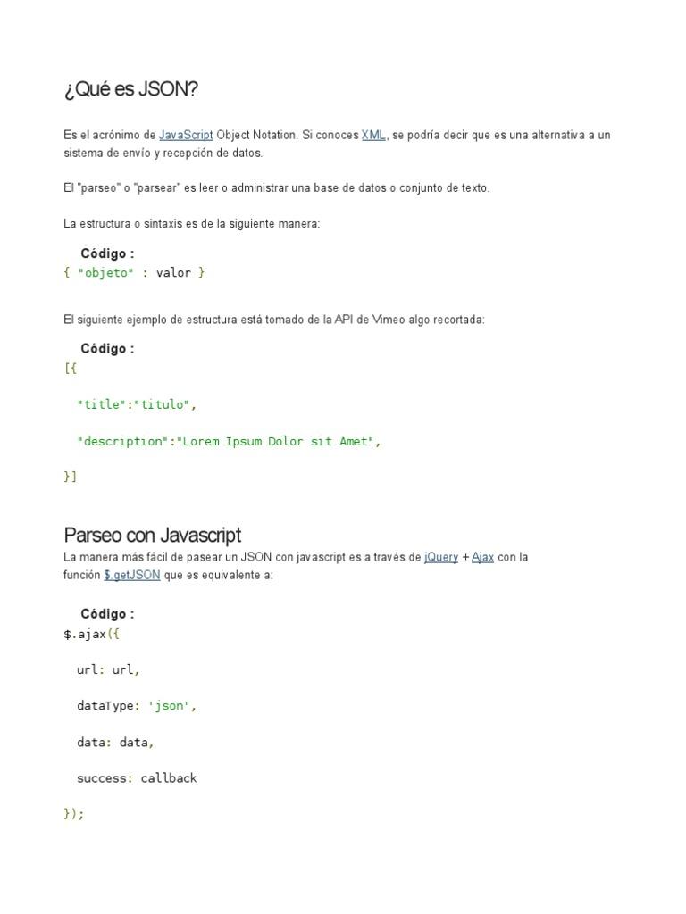 Leer Json Con Javascript Y Php