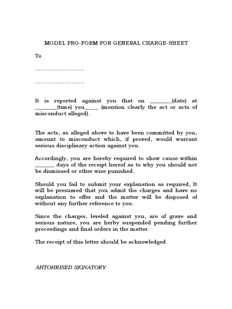 sample warning letter to employee
