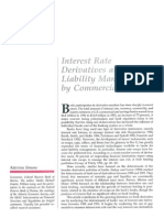Interest Rate Derivatives and ALM by Commercial Banks