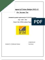 UNION BUDGET%282012%29Swati Midterm Report