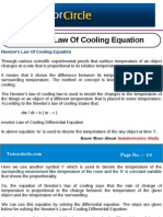 Newton's Law of Cooling Equation