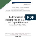 La Evaluación del Desempeño en la Gestión del Capital Humano