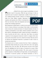 Risk Management in Banks-Chapter1