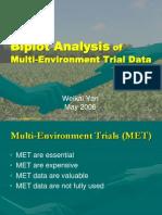 Biplot Analysis of MET Data IITA