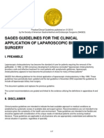 Guidelines for the Clinical Application of Laparoscopic Biliary Tract Surgery (1)