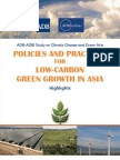 Policies and Practices for Low-Carbon Green Growth in Asia - Highlights