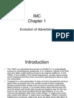 IMC Chapter 1 Evolution of Advertising
