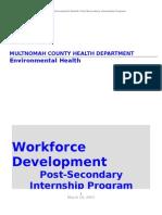 Workforce Development Post-Secondary Internship Program