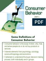 Studies on Consumer Behavior