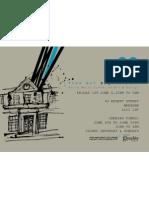 Glyndwr University art and design degree show 2012 flyer