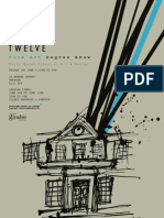 Glyndwr University art and design degree show 2012 poster