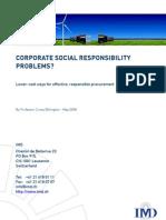Corporate Social Responsability Problems