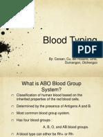 Blood Typing Presentation
