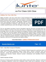 Syllabus for Class 11th Cbse