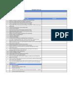 Developer Checklist
