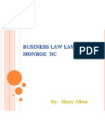 Business Law Lawyer in Monroe NC