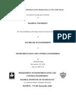 Instrumentation and Control department,ntpc badarpur summer training Report Full