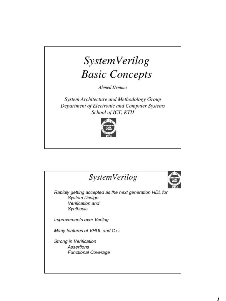 SystemVerilogIntroduction   Array Data Structure   Subroutine
