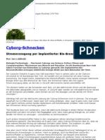Cyborg-Schnecken - Stromerzeugung per implantierter Bio-Brennstoffzelle