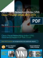 VNI Global IP Traffic Forecast 2011-2016