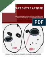 L'Art d'être artiste. Guide pour artistes francophones