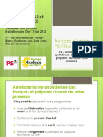 Accord PS EELV - Chapitre 4
