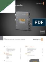 H.264 Pro Recorder Manual