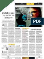 Las alteraciones metabólicas que sufre un fumador