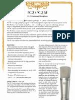 (Condenser Microphone)Manual FC2 FC2ST