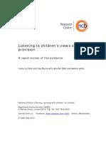 Listening to Children's Views on Health