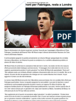 Arsenal_ Dietrofront Per Fabregas, Resta a Londra _ CalcioLine