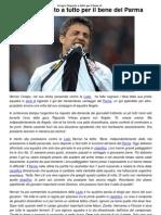 Crespo_ Disposto a Tutto Per Il Bene Del Parma _ CalcioLine