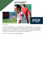 Genoa, Toni Cerca Il Recupero _ CalcioLine